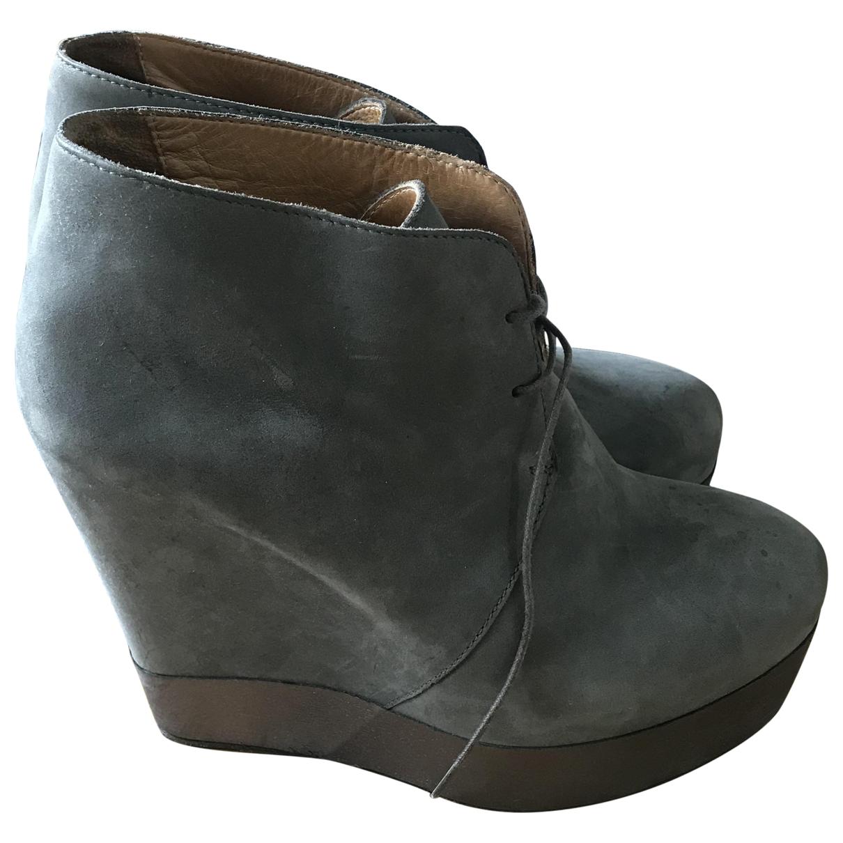 Acne Studios - Boots   pour femme en cuir - gris