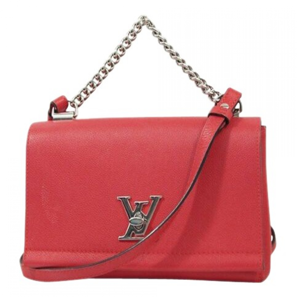 Louis Vuitton Lockme Handtasche in  Rot Leder