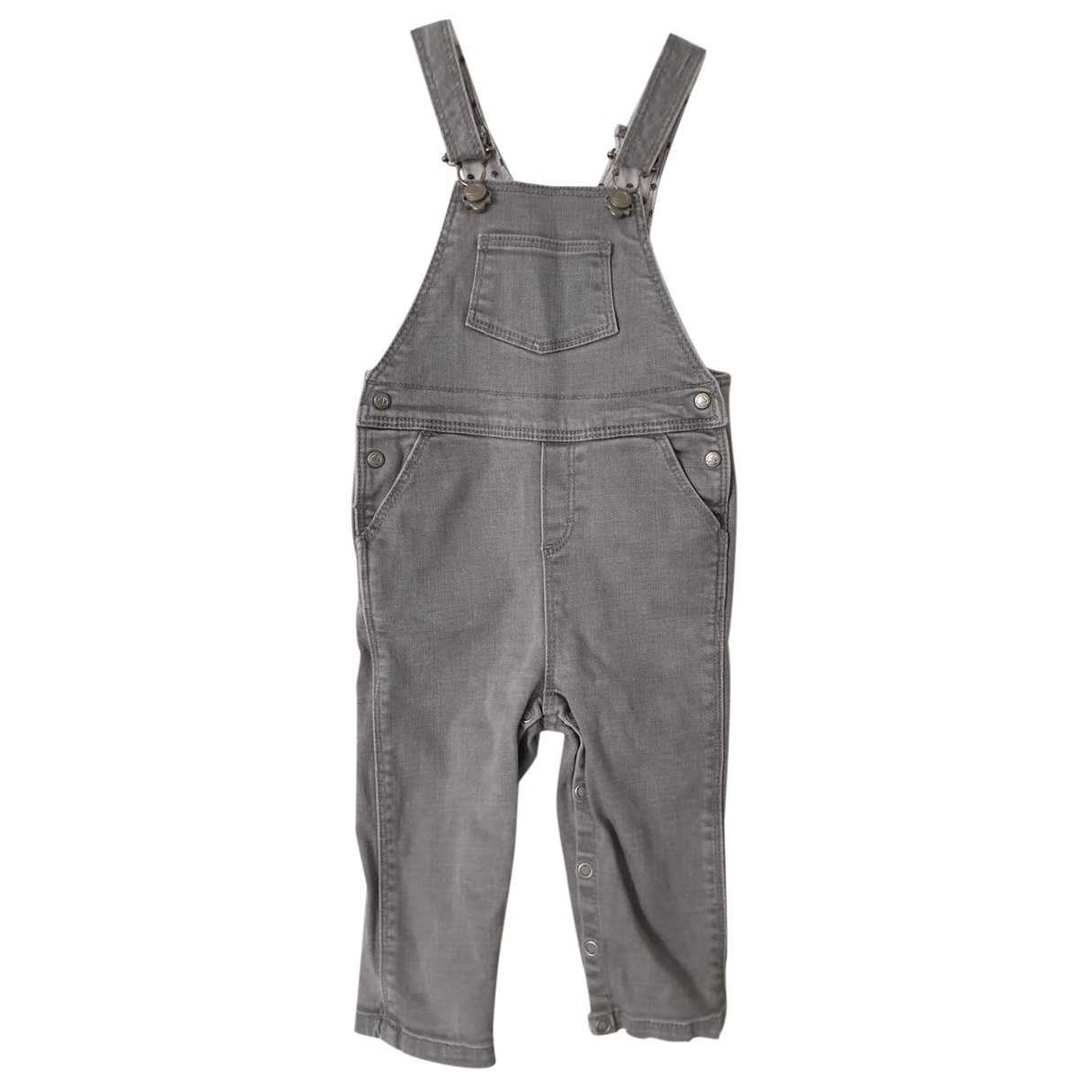 Petit Bateau \N Grey Cotton Trousers for Kids 12 months - up to 74cm FR