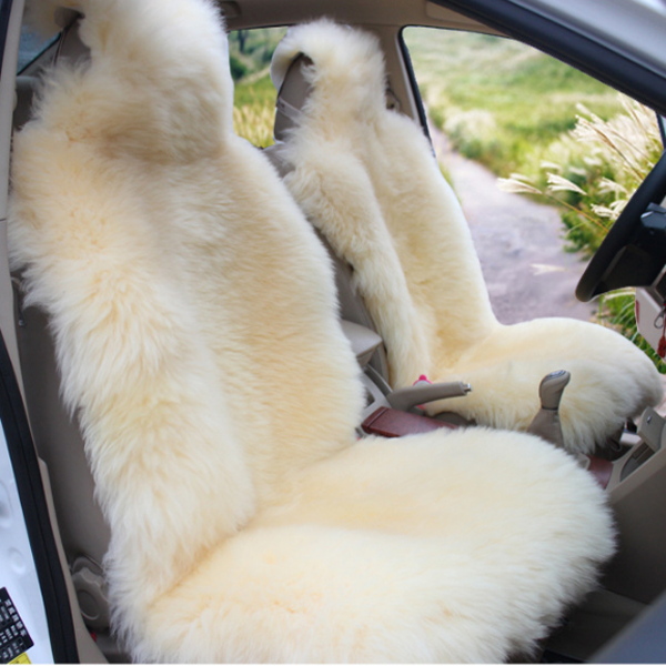 Bright Beige Super Soft Warm Lambswool Material Custom-Made Dedicated Car Carpet