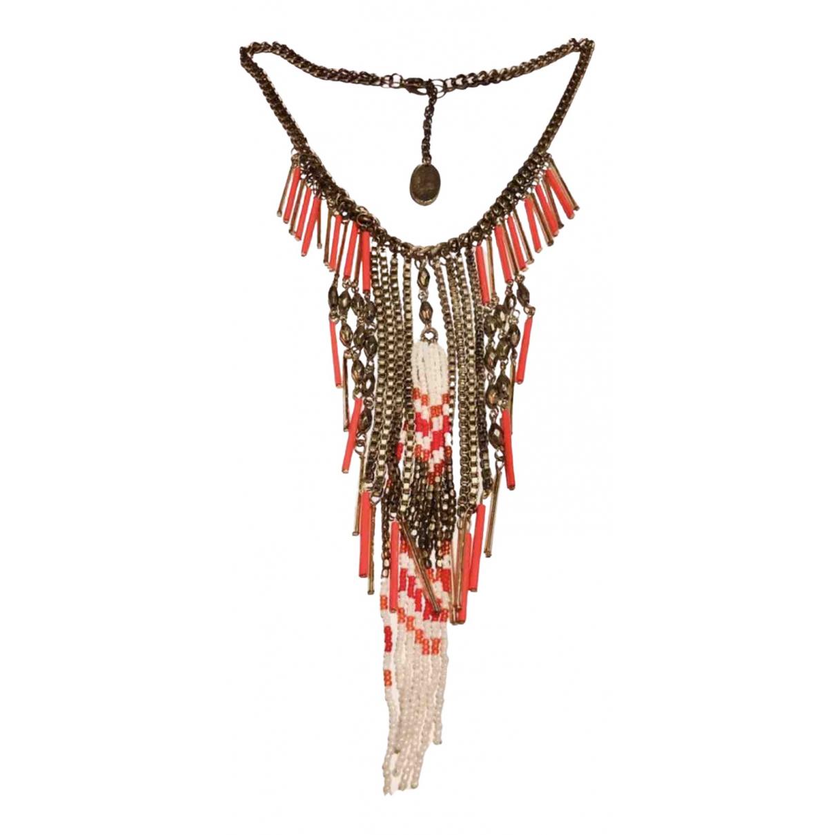 - Collier Motifs Ethniques pour femme en metal - orange