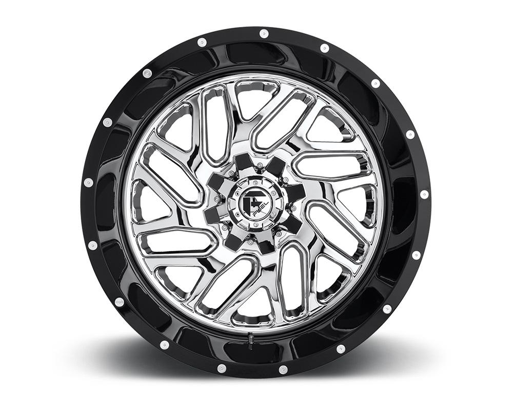 Fuel D211 Triton Chrome Face w/ Gloss Black Lip 2-Piece Cast Wheel 20x12 8x170 -44mm