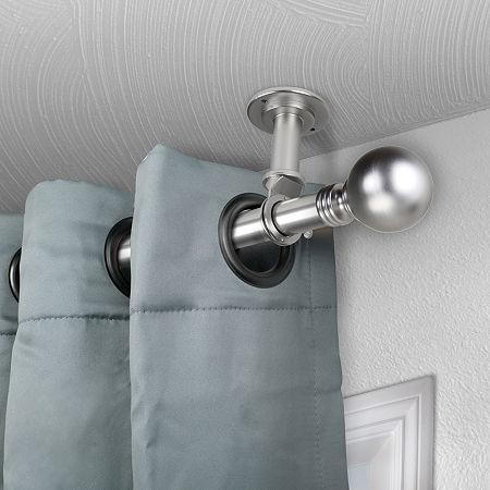 Rod Desyne Globe Ceiling Curtain Rod, One Size , Silver