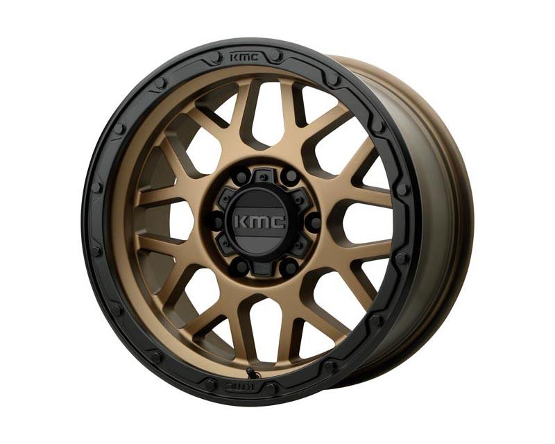 KMC Grenade Off-Road Wheel 16x8 6X5.5 -6mm Matte Bronze w/Matte Black Lip