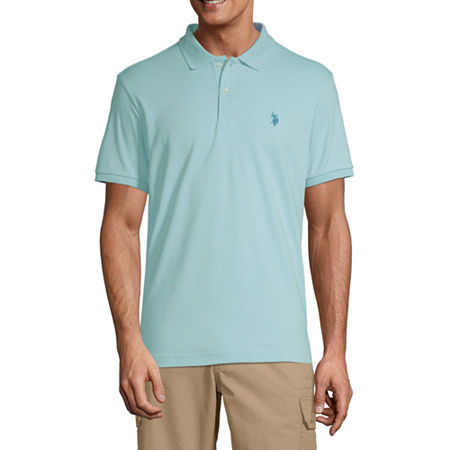 U.S. Polo Assn. Short-Sleeve Solid Interlock Polo, Medium , Blue