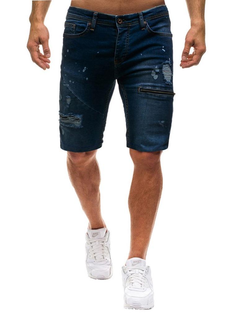 Ericdress Loose Zipper Plain Mens Casual Shorts