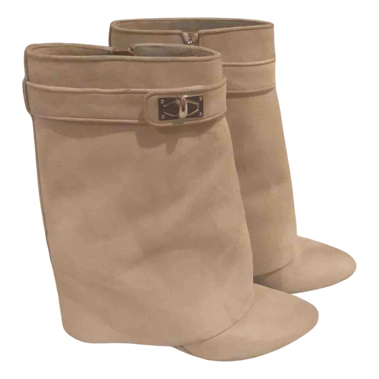 Givenchy Shark Beige Suede Boots for Women 40 EU