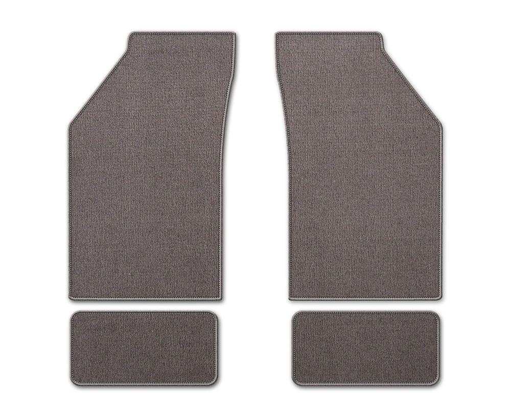 Coverking DFMBM39CH9216B1 Premium Plush Designer Floor Mats Style B Gray Front Center Chevrolet Silverado 1500 | Silverado 2500 1999-2006