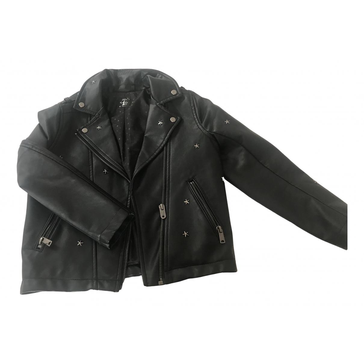 Ikks - Blousons.Manteaux   pour enfant en cuir - noir