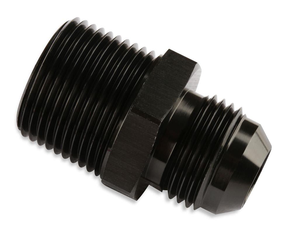 Mr. Gasket Straight -6 AN To 1/2 Inch NPT Adapter - Black