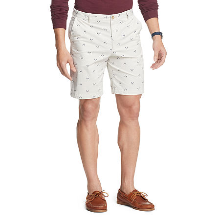 IZOD Saltwater Stretch Shorts Mens Stretch Chino Short-Big and Tall, 44 , Beige