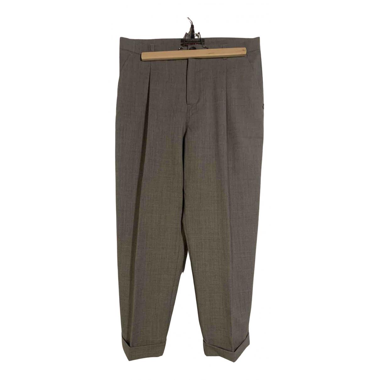 Maison Scotch - Pantalon   pour femme en laine - gris