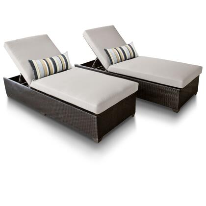 CLASSIC-2x-BEIGE Classic Chaise Set of 2 Outdoor Wicker Patio Furniture with 2 Covers: Wheat and