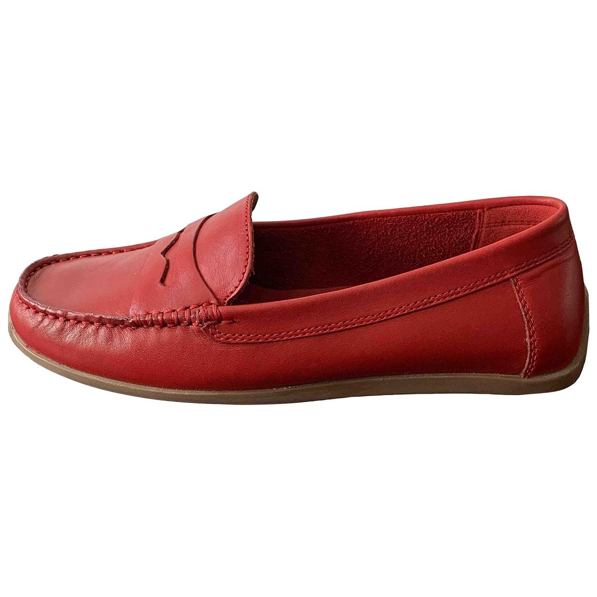Clarks \N Mokassins in  Rot Leder