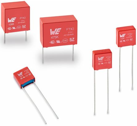 Wurth Elektronik 680nF Polypropylene Capacitor PP 275V ac ±10% Tolerance WCAP-FTX2 Series (10)