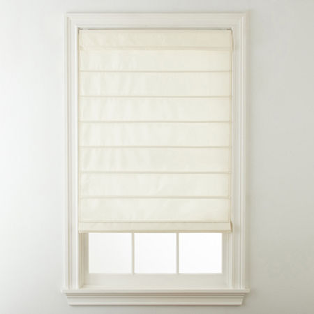 Home Expressions Savannah Cordless Roman Shade, One Size , White