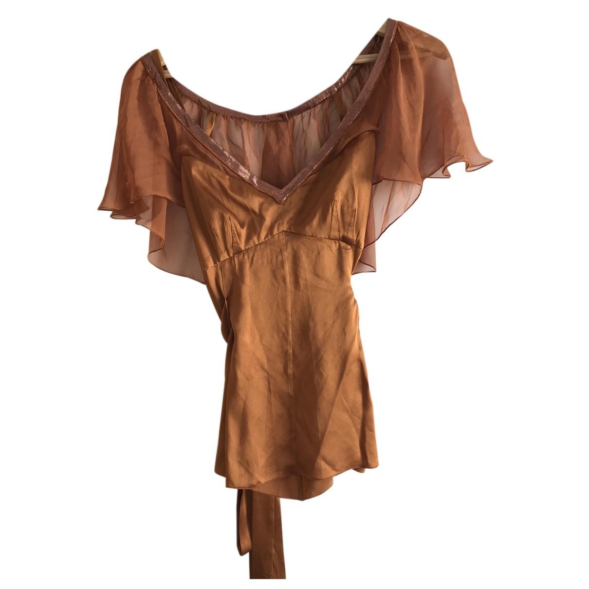 Dolce & Gabbana - Top   pour femme en soie - marron