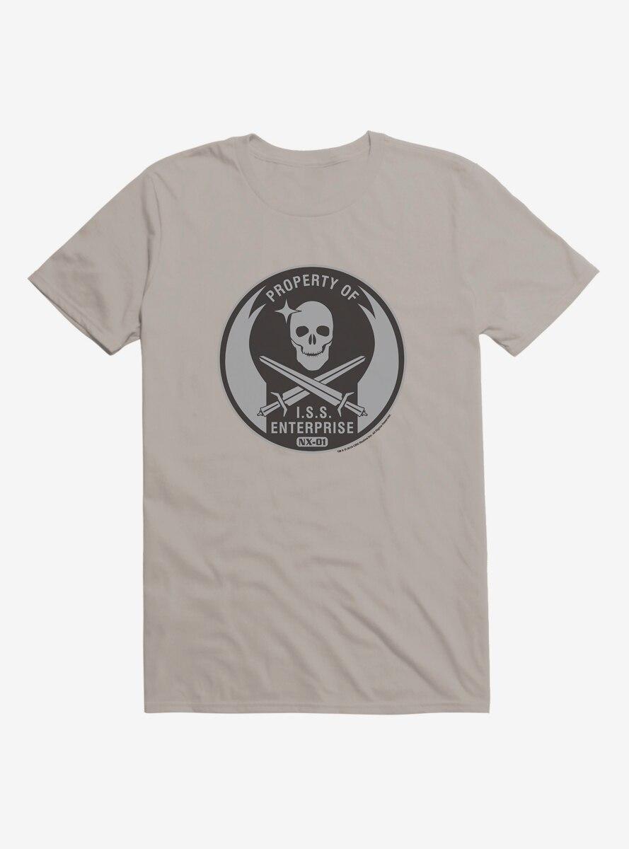 Star Trek Property Of ISS Enterprise Grayscale T-Shirt