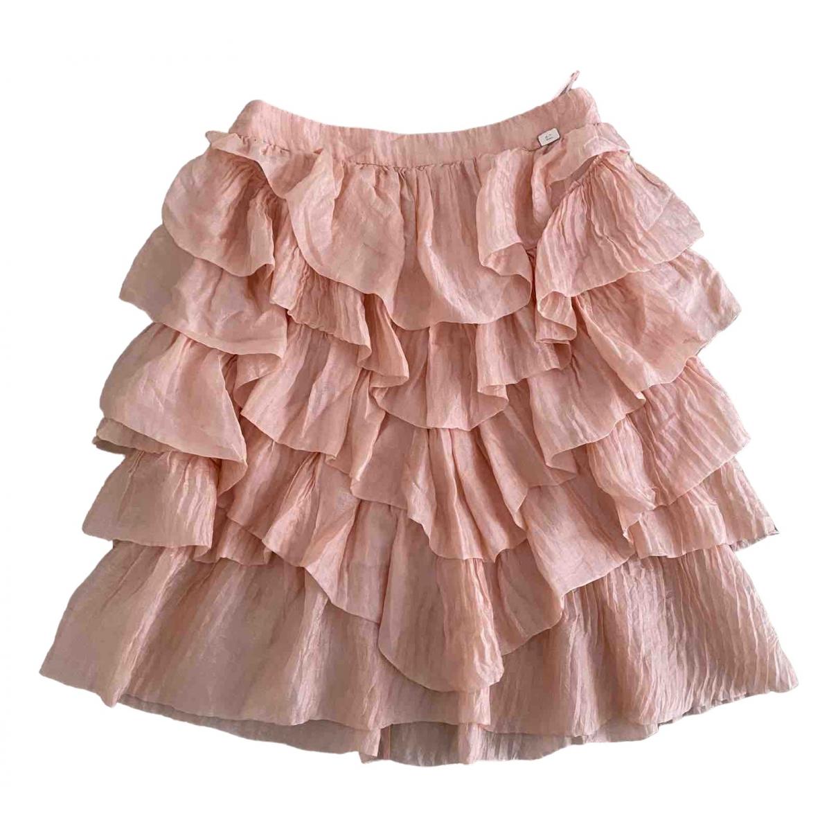 Chanel - Jupe   pour femme en soie - rose