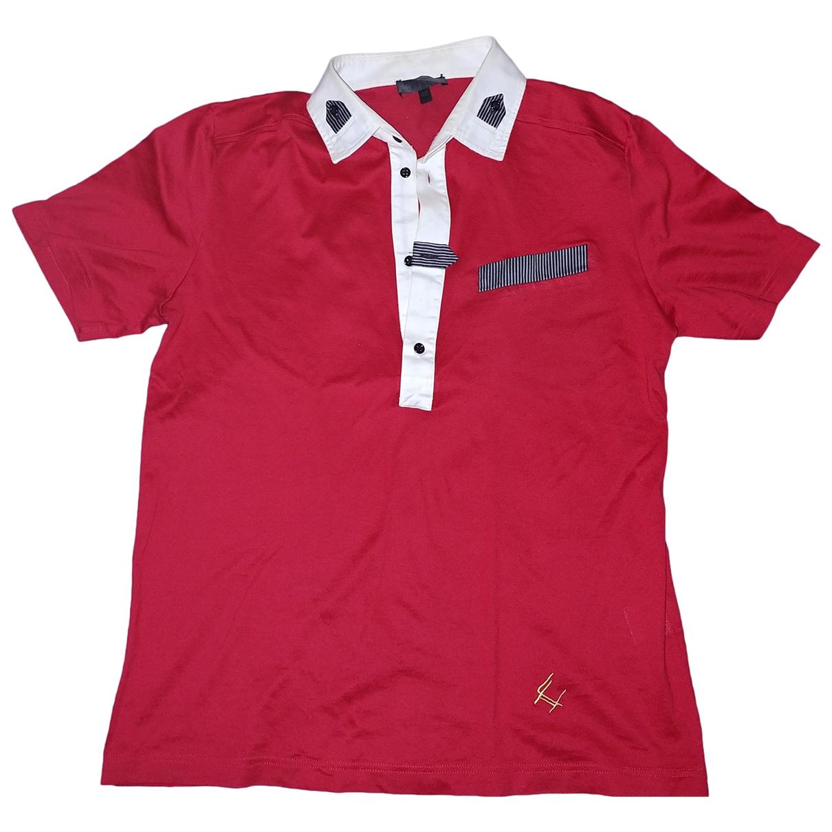 Les Hommes - Polos   pour homme en coton - rouge