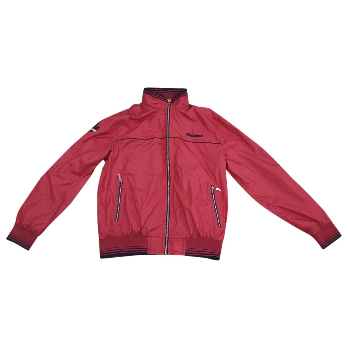 Dsquared2 \N Red Cotton jacket  for Men XL International