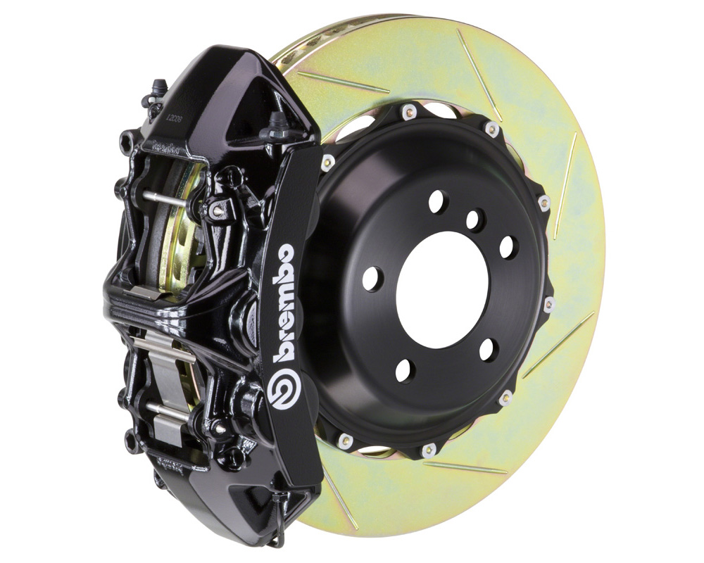 Brembo GT 355x32 2-Piece 6 Piston Black Slotted Front Big Brake Kit