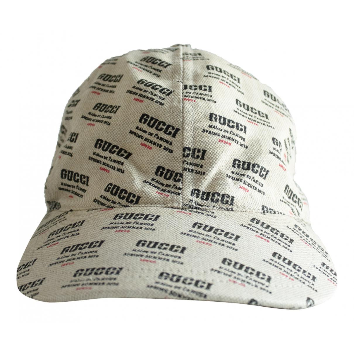 Gucci - Chapeau & Bonnets   pour homme en coton - beige