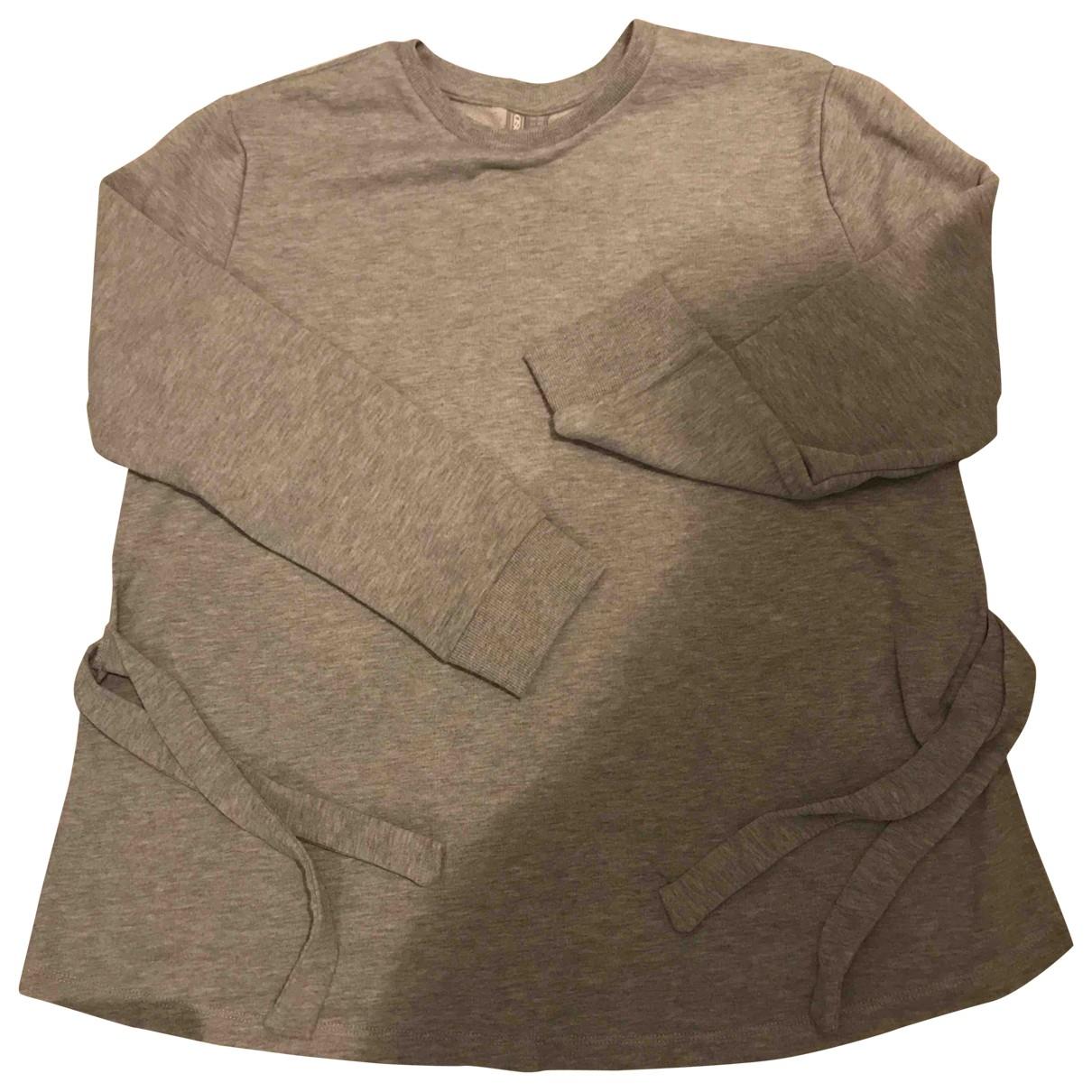 Asos \N Pullover in  Grau Baumwolle