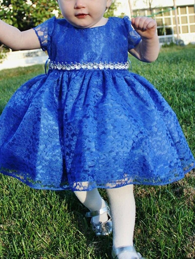 Ericdress Lace Knee-Length Short Sleeves Flower Girl Dress