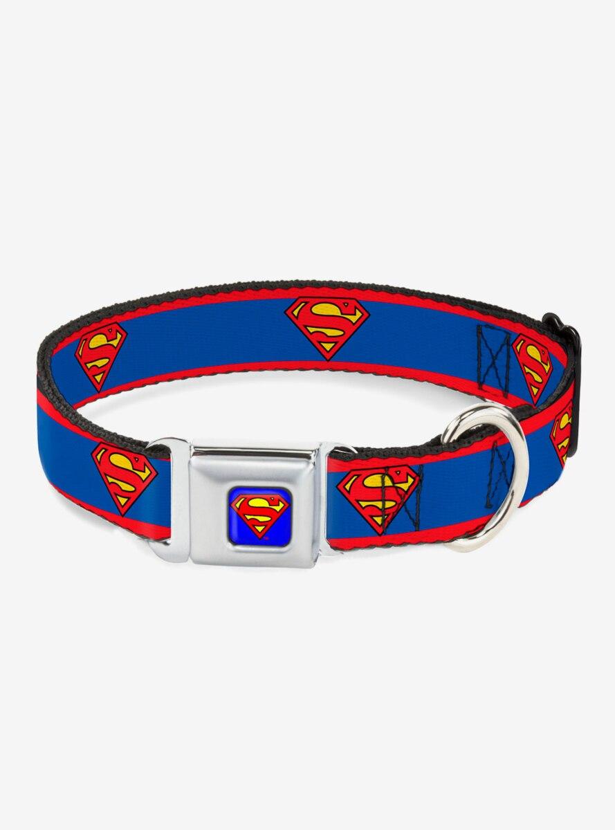 DC Comics Superman Shield Logo Dog Collar Seatbelt Buckle