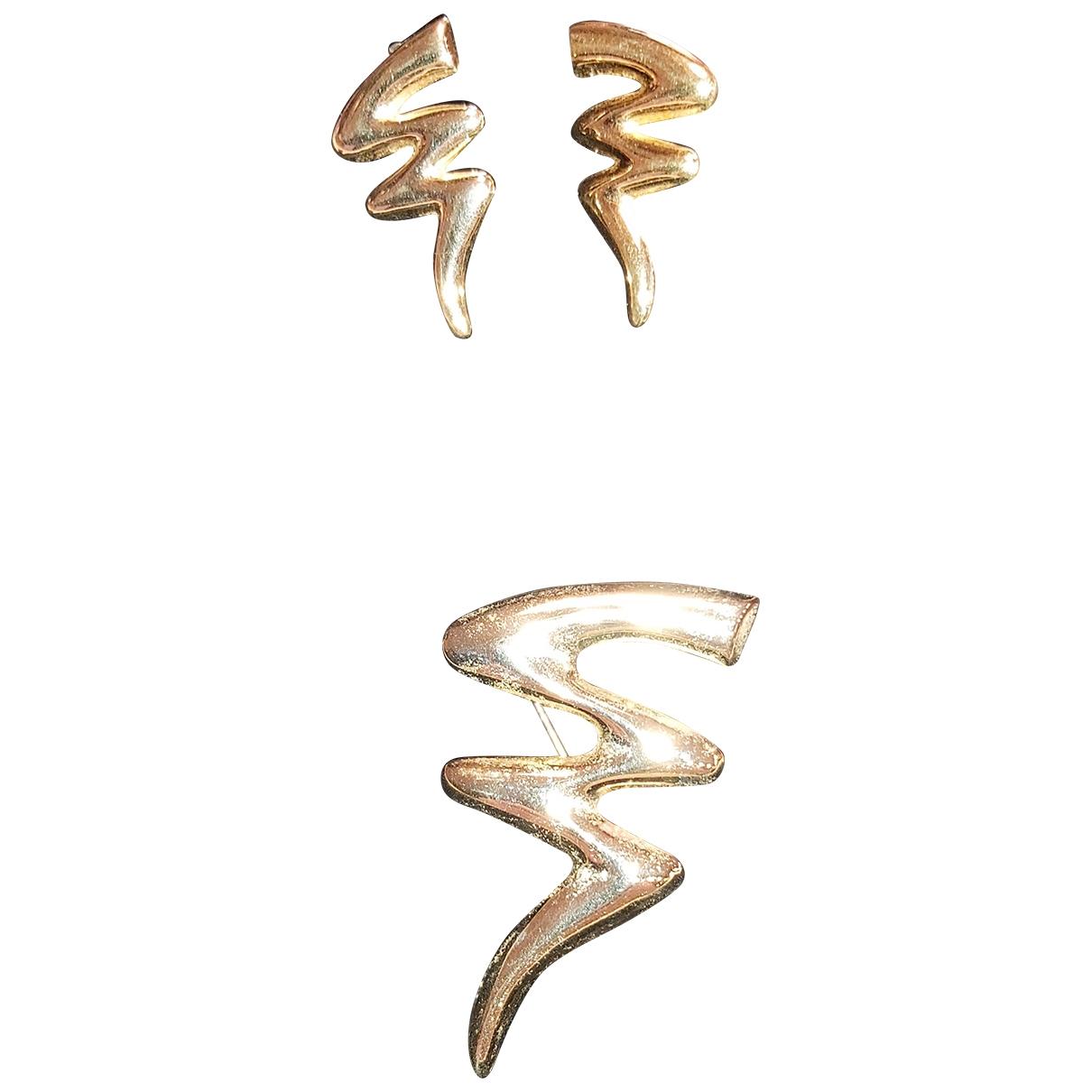 Non Signe / Unsigned \N Schmuck-set in  Gold Vergoldet