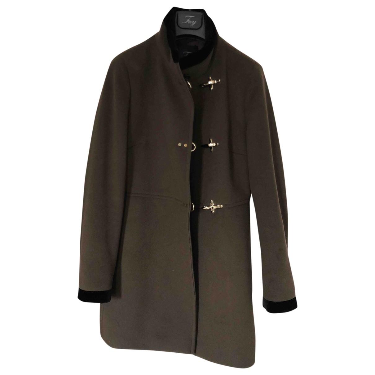 Fay - Manteau   pour femme en laine - marron