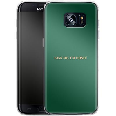Samsung Galaxy S7 Edge Silikon Handyhuelle - Kiss Me Im Irish von caseable Designs