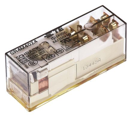 TE Connectivity , 24V dc Coil Non-Latching Relay 3PNO, SPNC, 8A Switching Current PCB Mount, 3 Pole