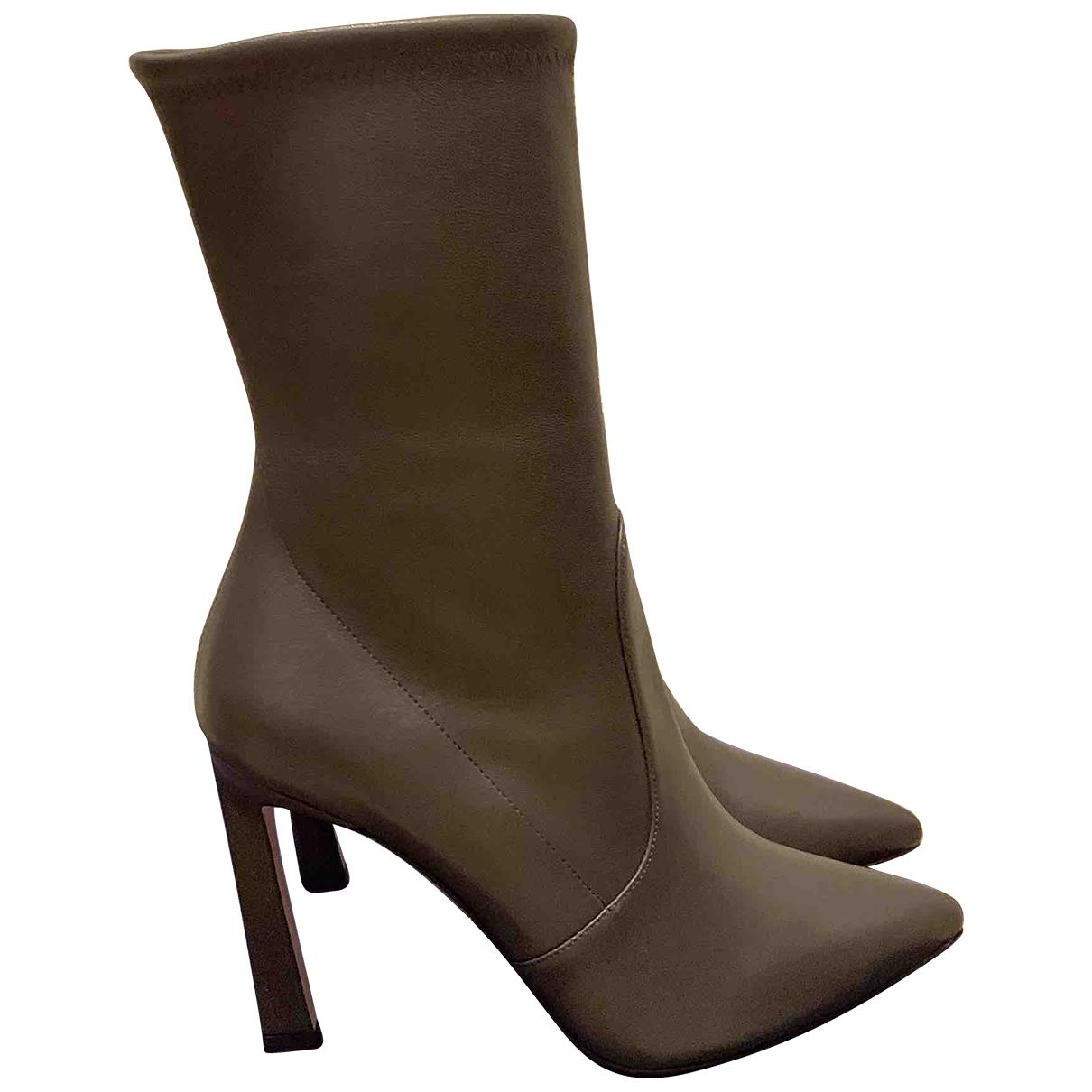 Stuart Weitzman \N Black Leather Ankle boots for Women 39 EU