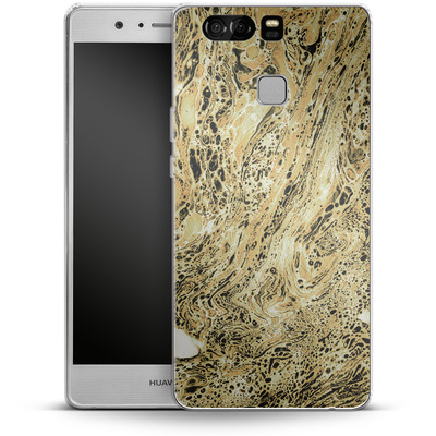 Huawei P9 Silikon Handyhuelle - Marbled Sand von Amy Sia