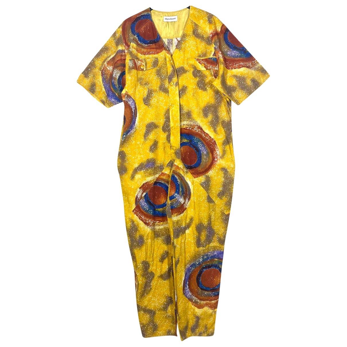 Alberta Ferretti - Combinaison   pour femme en coton - jaune