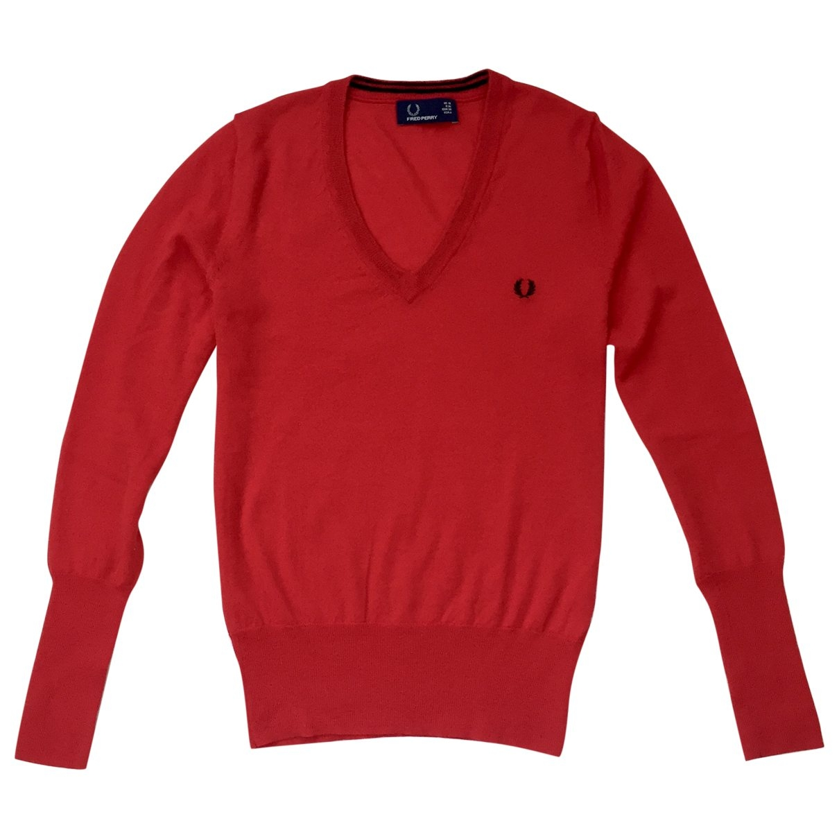 Fred Perry \N Red Wool Knitwear for Women 10 UK