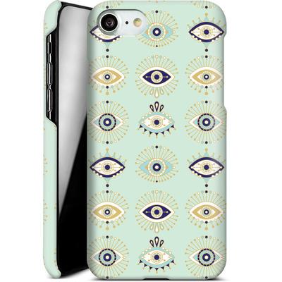 Apple iPhone 7 Smartphone Huelle - Evil Eyes Mint von Cat Coquillette