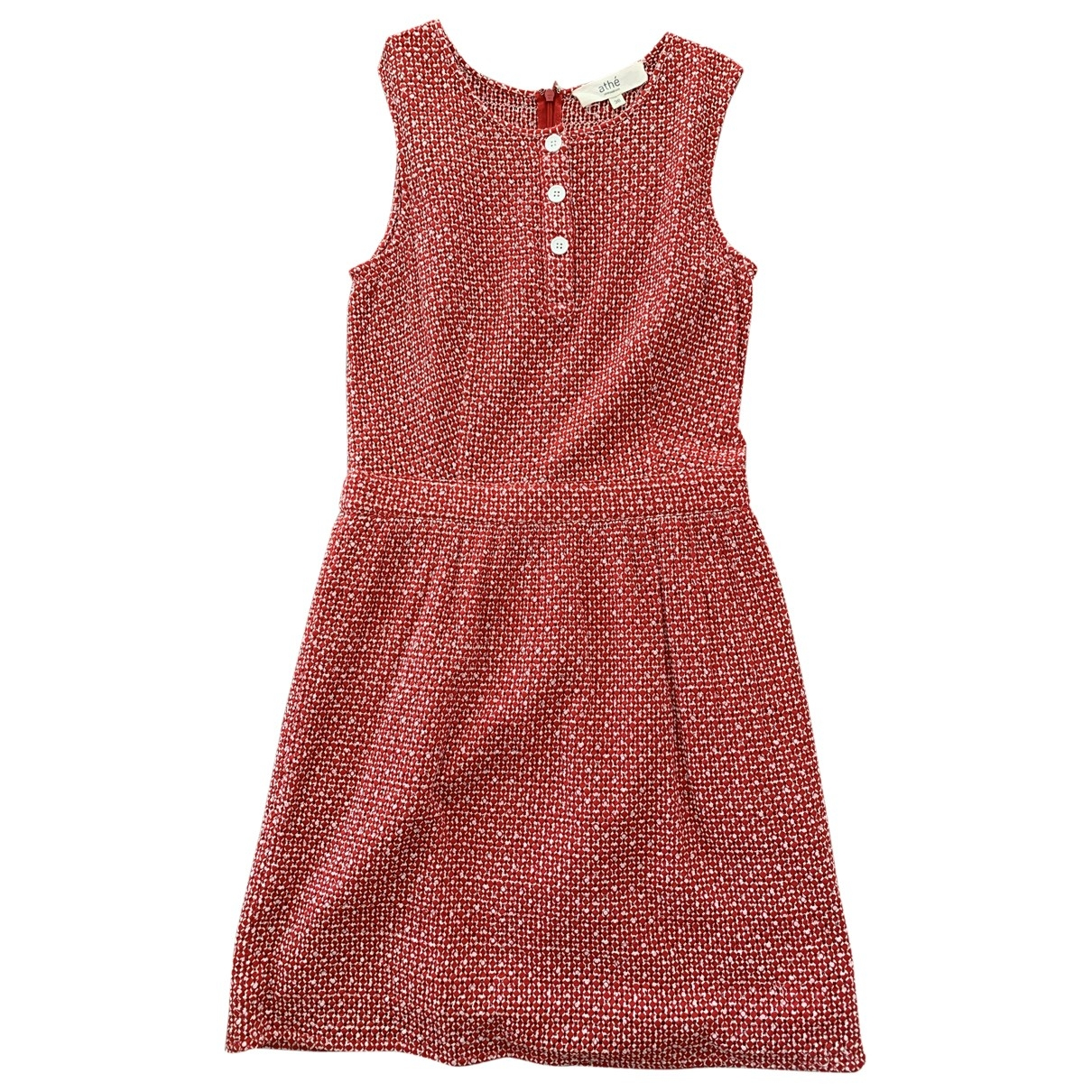 Vanessa Bruno Athe \N Red Cotton dress for Women 38 FR