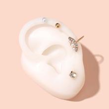 4 Stuecke Ohrringe mit Strass Dekor