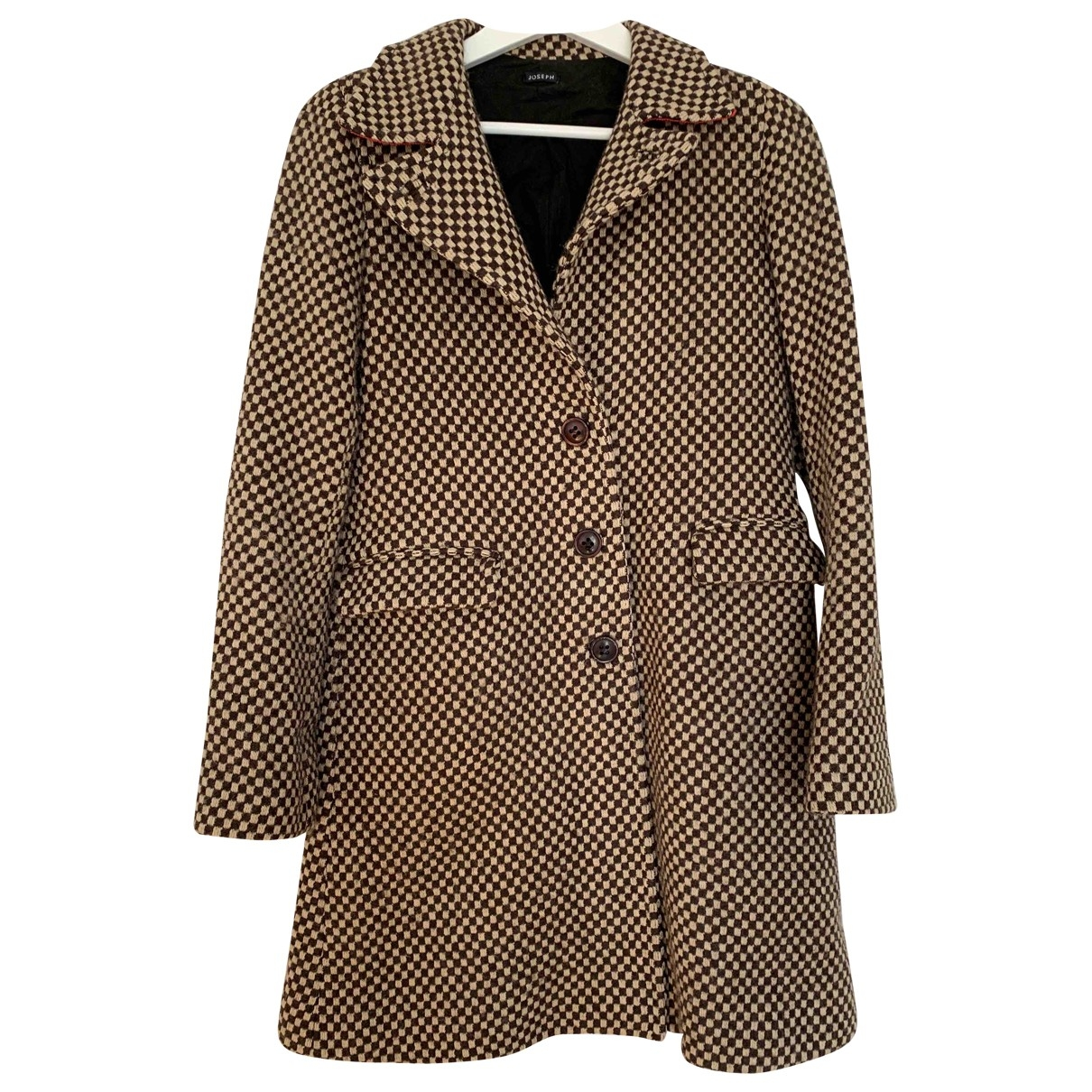 Joseph \N Beige Wool coat for Women 38 FR