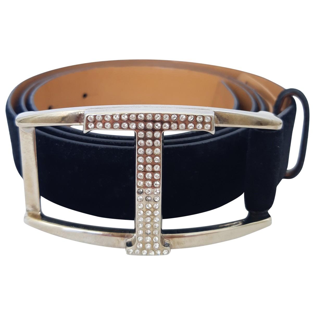 Tod's \N Black Suede belt for Women 90 cm
