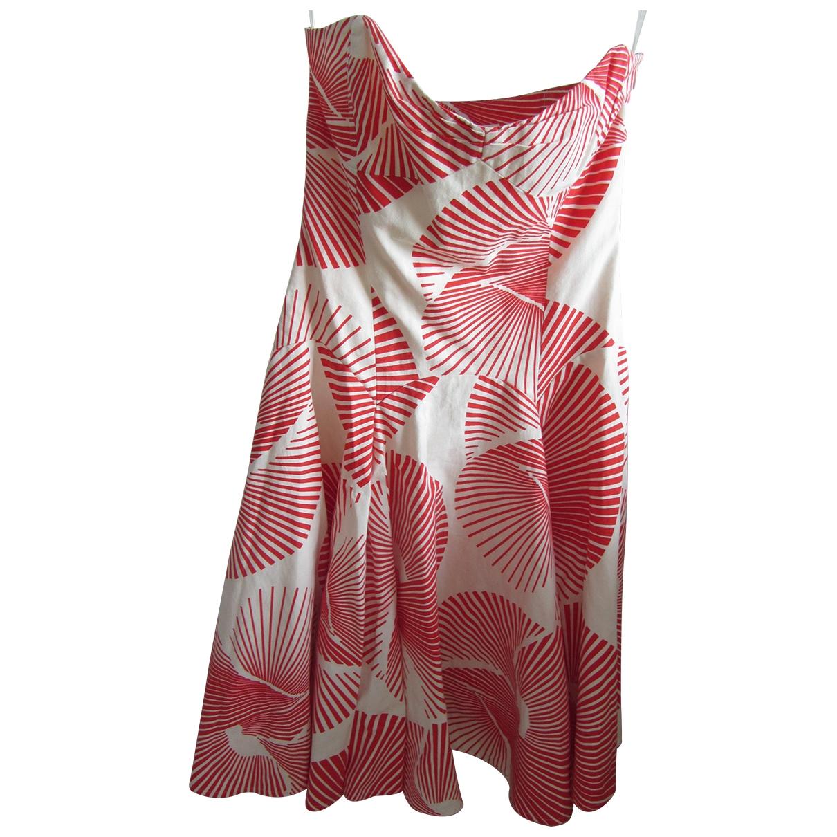 Diane Von Furstenberg \N Red Cotton dress for Women 6 US
