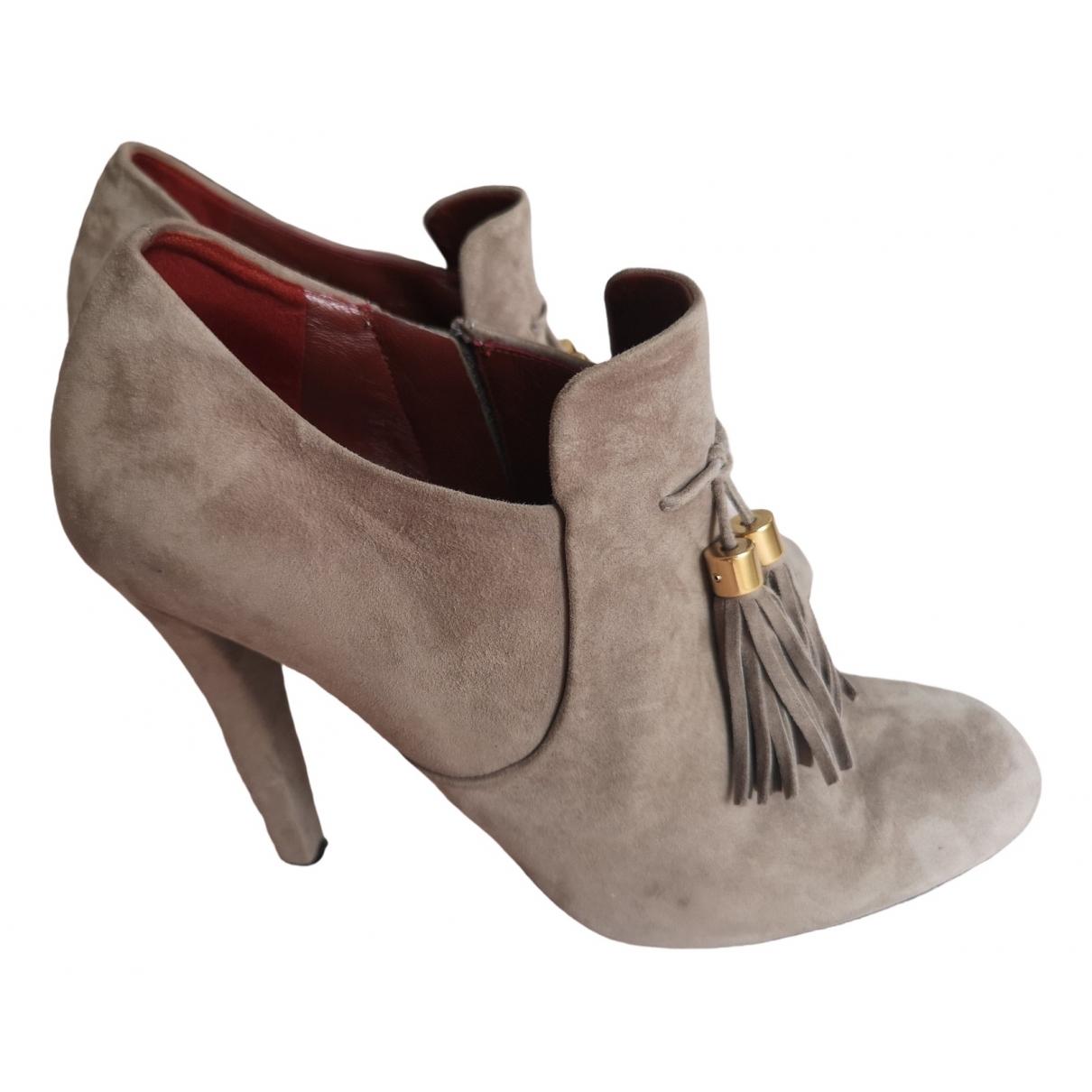 Gucci \N Grey Suede Heels for Women 39 EU
