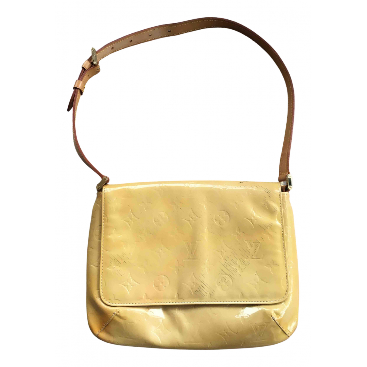 Louis Vuitton N Yellow Patent leather handbag for Women N