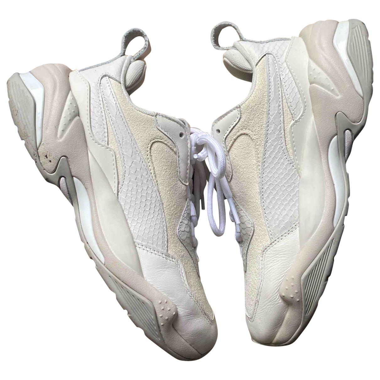 Puma - Baskets   pour femme en cuir - beige