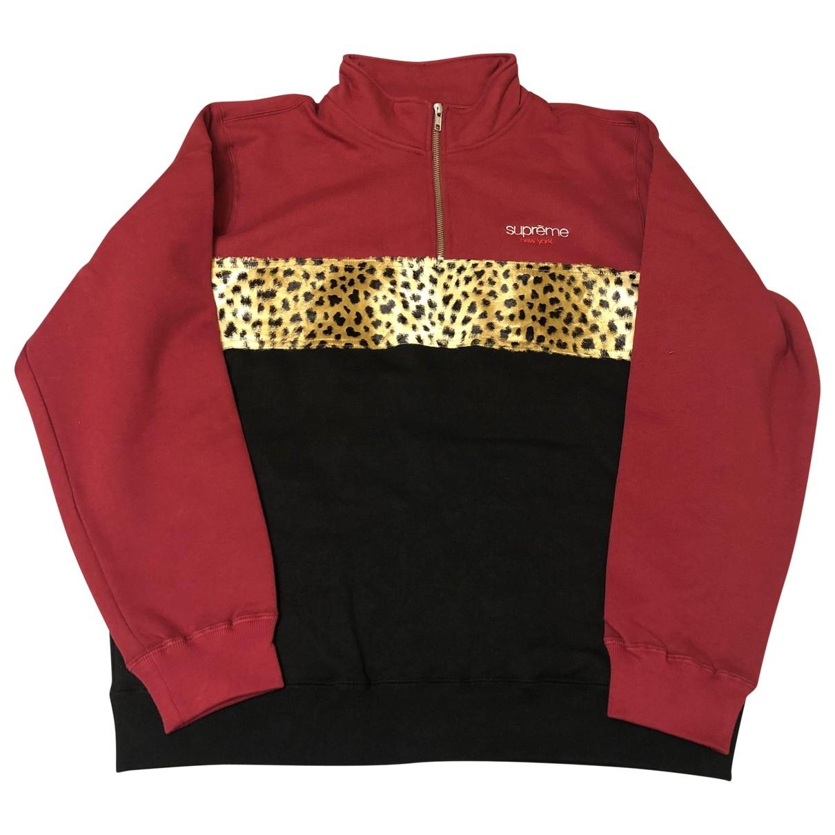 Supreme \N Pullover.Westen.Sweatshirts  in  Rot Baumwolle