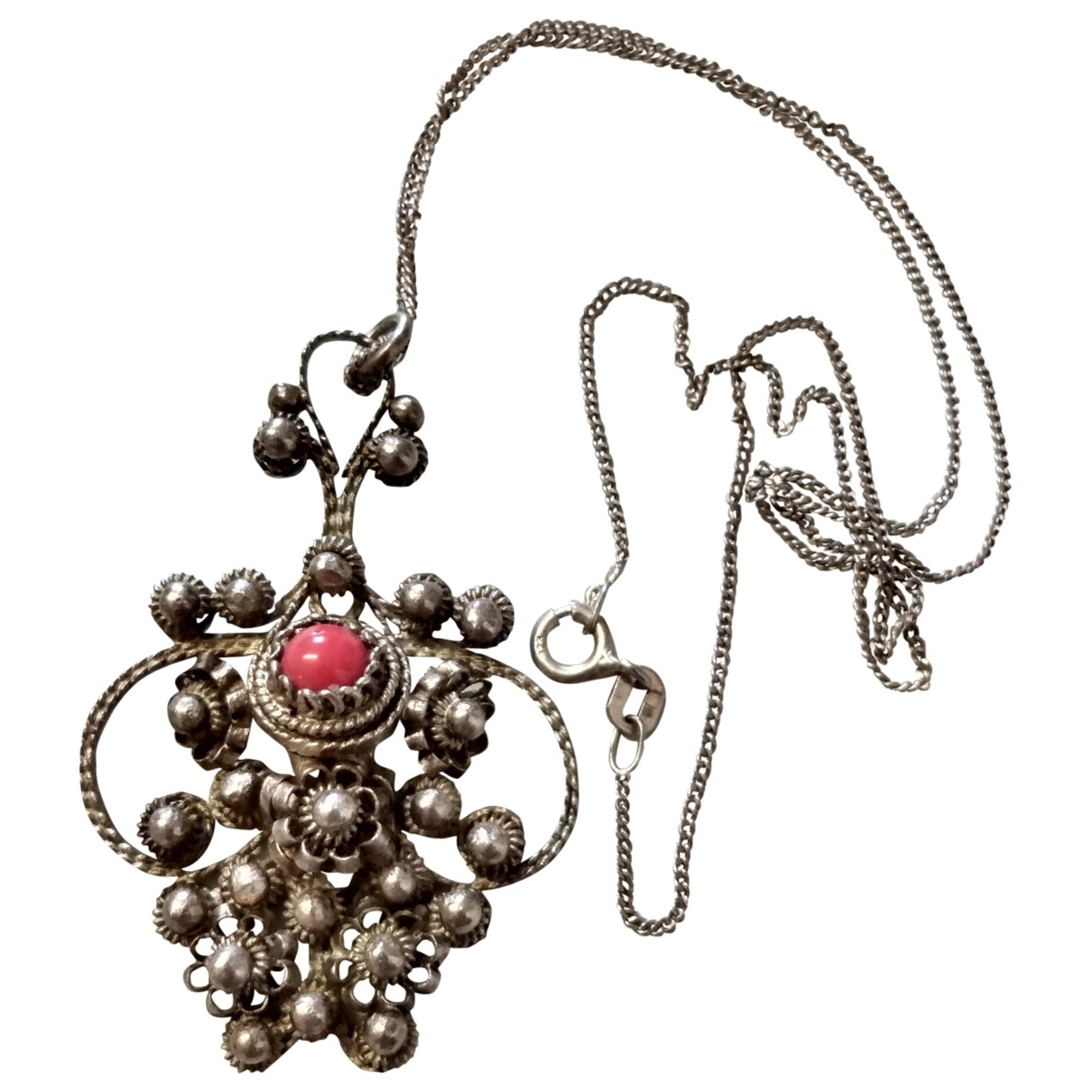 Non Signé / Unsigned Corail Silver Silver necklace for Women \N