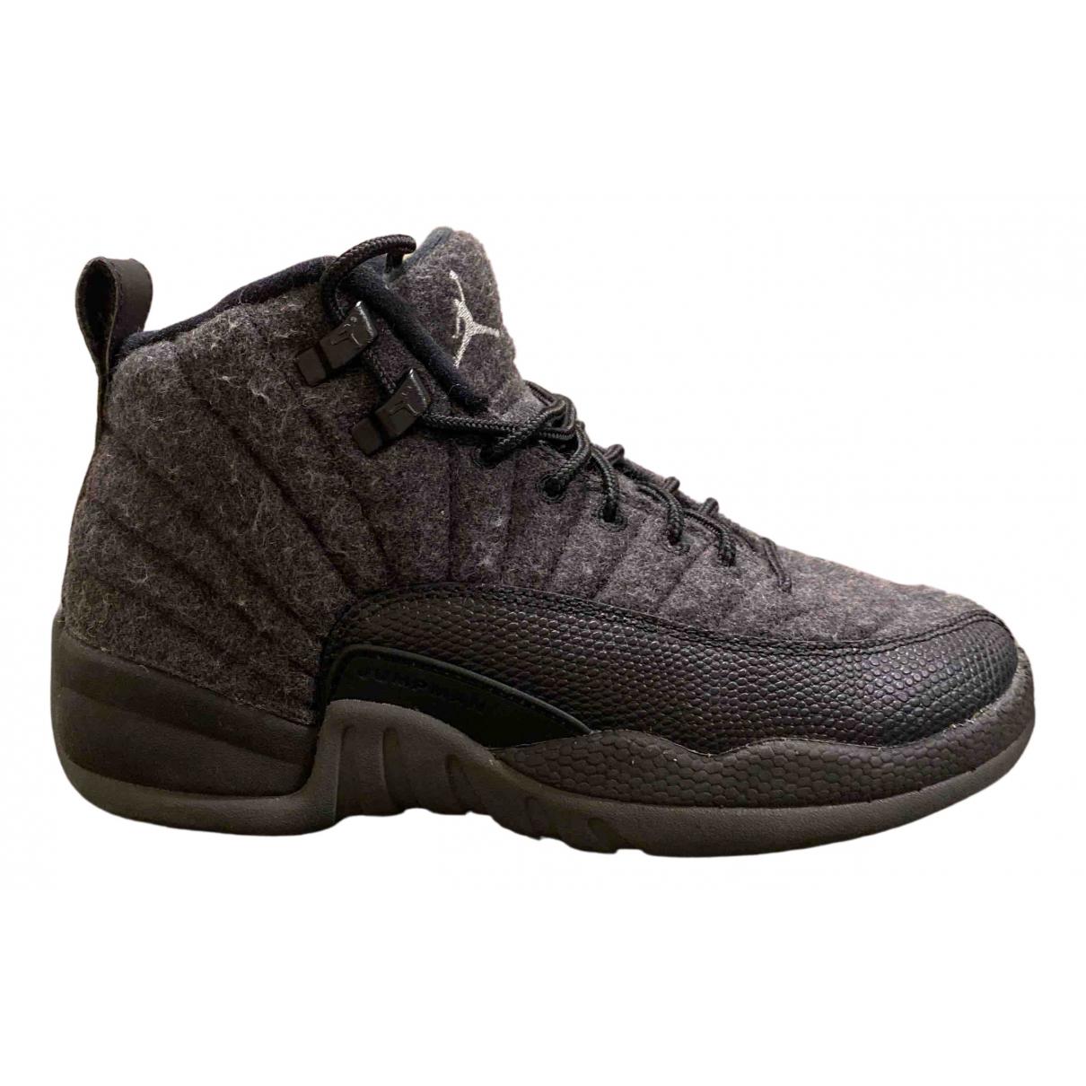Jordan - Baskets Air Jordan 12 pour enfant en toile - gris